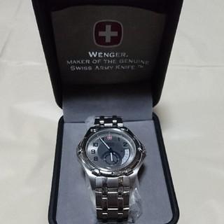 ウェンガー(Wenger)の稼働中 ウェンガー ミリタリーデイト スモセコ メンズ腕時計(腕時計(アナログ))