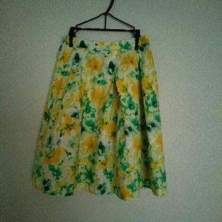 グラスライン(Glass Line)のGLASS LINE 花柄スカート(ひざ丈スカート)