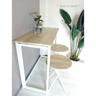 ザラホーム(ZARA HOME)のセール‼️折りたたみカフェテーブル イス付き White(折たたみテーブル)