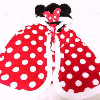 ディズニー(Disney)の新品ミニーちゃん もこもこポンチョ(ポンチョ)