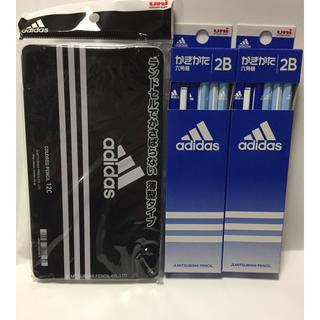 アディダス(adidas)の三菱鉛筆 アディダス 色鉛筆 12色セット かきかたえんぴつ 2B 2ダース ②(鉛筆)