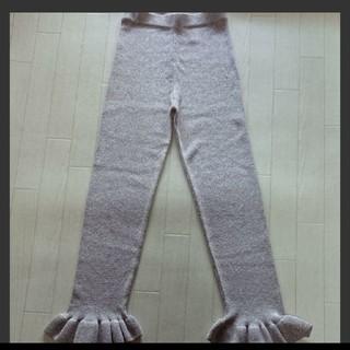エイチアンドエム(H&M)の美品  H&M  ニットパンツ  ピンク×シルバー  34(レギンス/スパッツ)