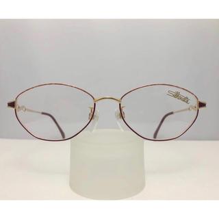 シルエット(Silhouette)のシルエット 新品 軽い 日本製 眼鏡 フレーム 赤 フォーマル メガネ めがね(サングラス/メガネ)
