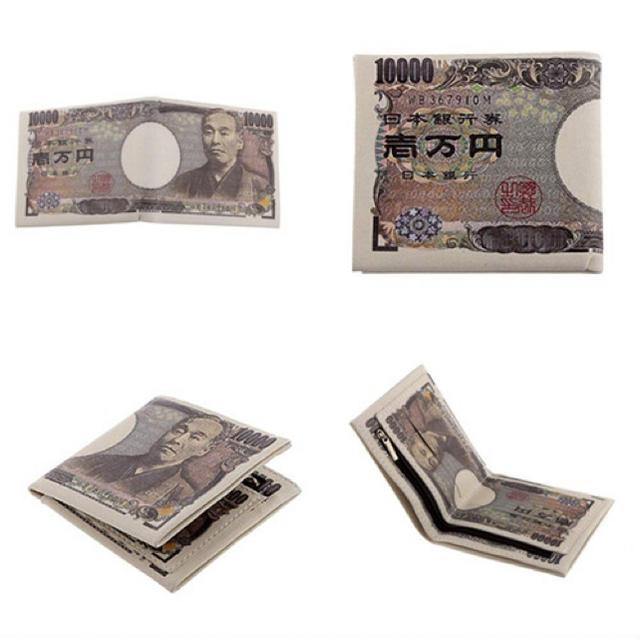 bd14dbe4fdd5 1万円札柄 折りたたみ財布 おもしろい財布 金運 アップ お財布 ギフト メンズ