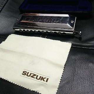 スズキ(スズキ)のSUZUKI クロマチックハーモニカ SCX-48 1度使用(ハーモニカ/ブルースハープ)