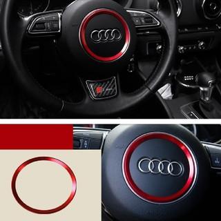 アウディ(AUDI)の《新品未使用》 Audi アウディ ステアリングホイール(レッド)(車内アクセサリ)