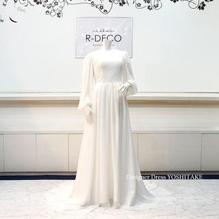 ウエディングドレス 白シフォンドレス ブライダル二次会用ドレス(ウェディングドレス)