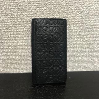 ロエベ(LOEWE)のロエベ 6連キーケース 黒 レザー リピート(キーケース)