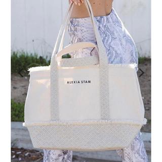 アリシアスタン(ALEXIA STAM)のALEXIA STAM  Medium Tote Bag Ivory(トートバッグ)