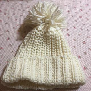 カシラ(CA4LA)のカシラ ポンポンニット帽(ニット帽/ビーニー)