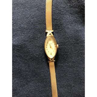 アガット(agete)の【週末特価】agete クラッシック 腕時計 オーバル ダイヤ K10(腕時計)