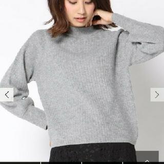 ケティ(ketty)の新品タグ付☆ketty☆ハイネック ボリューム袖 ニット グレー定価17280円(ニット/セーター)
