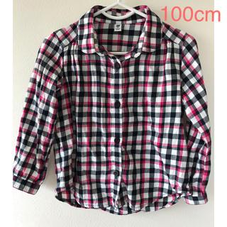 ユニクロ(UNIQLO)の【ユニクロ】チェックシャツ 100cm(ブラウス)