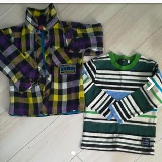 カルディア(CALDia)の美品カルディア長袖シャツ、チェックシャツ2枚組(Tシャツ/カットソー)