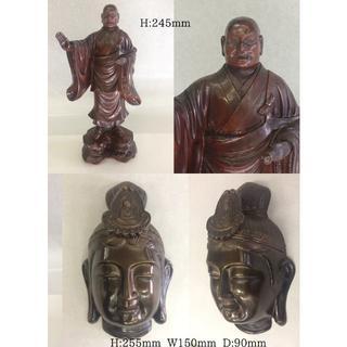 仏像 8体 日蓮様/仏陀/観音様/達磨大師/寿老人/弘法大師(彫刻/オブジェ)
