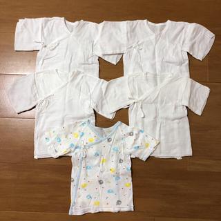 シマムラ(しまむら)の新生児 短肌着 50〜60 5枚セット(肌着/下着)