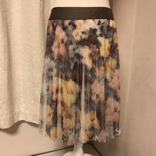 ジユウク(自由区)の美品自由区の花柄スカート サイズ38(ひざ丈スカート)