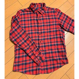 ユニクロ(UNIQLO)の150サイズフランネルシャツ(ブラウス)