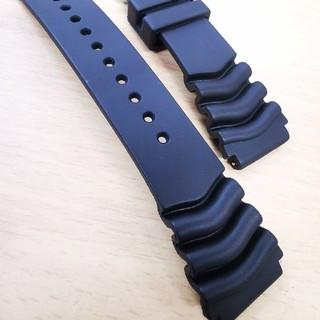セイコー(SEIKO)のSeiko純正 22mm 防水ラバーベルト(ラバーベルト)