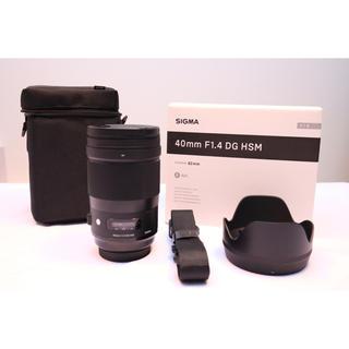 SIGMA - 極美品 SIGMA シグマ 40mm F1.4 DG HSM Art canon
