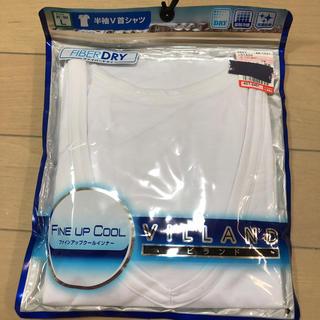 シマムラ(しまむら)の半袖 V首シャツ DRY 接触冷感 抗菌防臭 Lサイズ ビランド(シャツ)