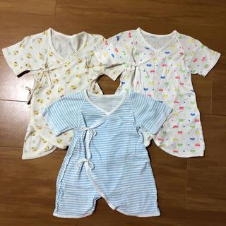 シマムラ(しまむら)の専用★新生児 コンビ肌着 50〜60 3枚セットと短肌着 4枚(肌着/下着)