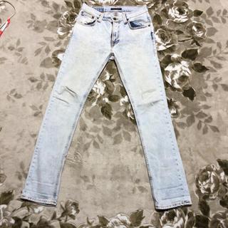 ヌーディジーンズ(Nudie Jeans)のnudie jeans THIN FINN bleached ブリーチ デニム(デニム/ジーンズ)