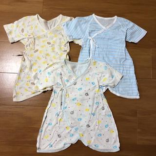 シマムラ(しまむら)の新生児 コンビ肌着 50〜60 3枚セット(肌着/下着)