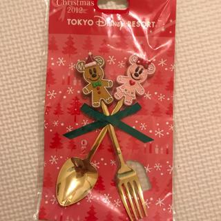 ディズニー(Disney)のディズニークリスマス スプーン フォークセット(スプーン/フォーク)
