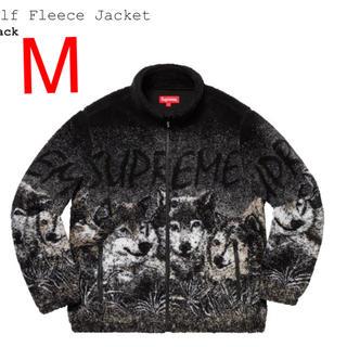 シュプリーム(Supreme)のsupreme wolf fleece jacket 黒M(その他)