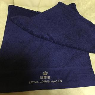ロイヤルコペンハーゲン(ROYAL COPENHAGEN)のロイヤルコペンハーゲンのフェイスタオル ブルー(タオル/バス用品)