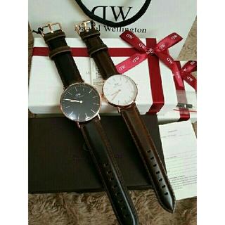 正規品【ダークブラウン40MM&36MM】 ダニエルウェリントン 腕時計