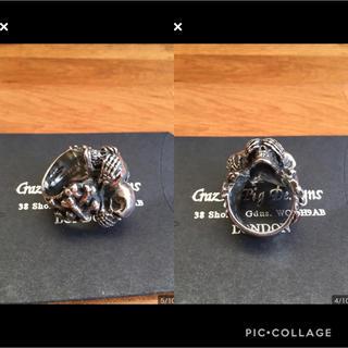 クレイジーピッグ(CRAZY PIG)のクレイジーピッグ 3ワイズスカルリング サイズ:22号 シルバーリング 指輪(リング(指輪))