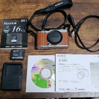 フジフイルム(富士フイルム)の【専用】FUJIFILM ミラーレスカメラ X-M1 ブラウン(ミラーレス一眼)