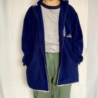 アディダス(adidas)のadidas 90s ロゴ刺繍フリース(パーカー)