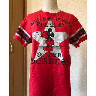 Disney - ミッキー  真っ赤なTシャツ  星
