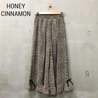 ハニーシナモン(Honey Cinnamon)の【HONEY CINNAMON】レオパード シフォンパンツ ハニーシナモン(その他)