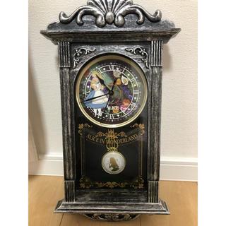 ディズニー(Disney)の未使用♡不思議の国のアリス時計(掛時計/柱時計)
