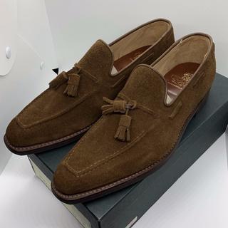 クロケットアンドジョーンズ(Crockett&Jones)の新品 CROCKETT&JONES ローファー 革靴 スエード 定価9万(ドレス/ビジネス)