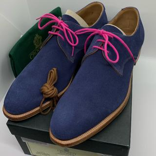 クロケットアンドジョーンズ(Crockett&Jones)の新品 CROCKETT&JONES ドレスシューズ 革靴 スエード 定価9万(ドレス/ビジネス)