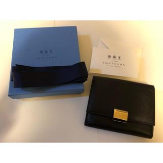スマイソン(Smythson)の★新品未使用★スマイソン カーフレザー財布 ブラック グロブナー(財布)