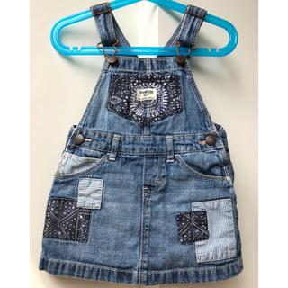 【OshKosh】デニムジャンパースカート(Size:2T、90)
