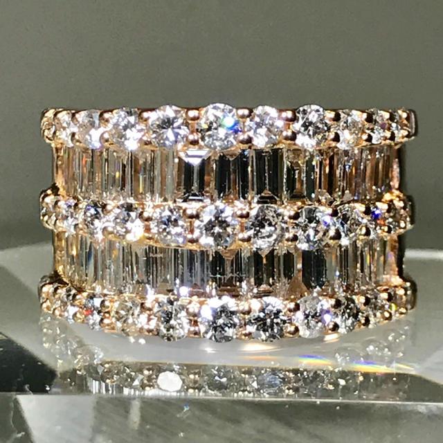 エタニティリング ダイヤモンド3.00カラット k18 PG ダイヤモンドリング レディースのアクセサリー(リング(指輪))の商品写真