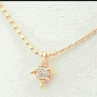 NOJESS - ノジェス 一粒ダイヤ ネックレス ダイヤモンド ネックレス K10 PG