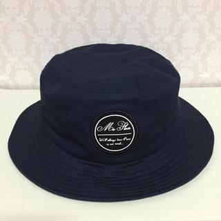 ジーユー(GU)のGU ジーユー ハット 帽子 ネイビー F(ハット)