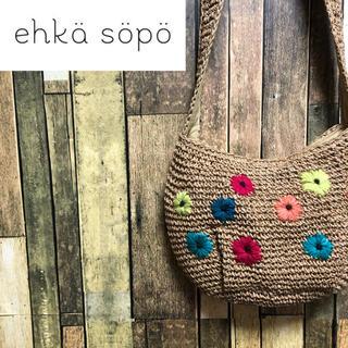 エヘカソポ(ehka sopo)の【レア】エヘカソポ♡花刺繍かごショルダーバック(ショルダーバッグ)