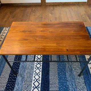 ムジルシリョウヒン(MUJI (無印良品))の大赤字価格 最終価格 即決希望 高級無垢材鉄アイアン 新品 カフェテーブル(コーヒーテーブル/サイドテーブル)