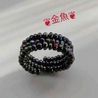 ブラックパールのリング*指輪(12〜13号)(リング(指輪))