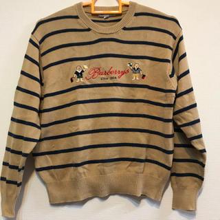 バーバリー(BURBERRY)のBurberry bear 刺繍 コットン100%ニット 140cm(ニット)