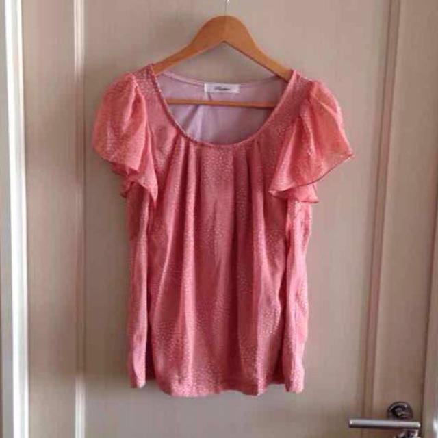 ピンクドットシフォントップス レディースのトップス(シャツ/ブラウス(半袖/袖なし))の商品写真